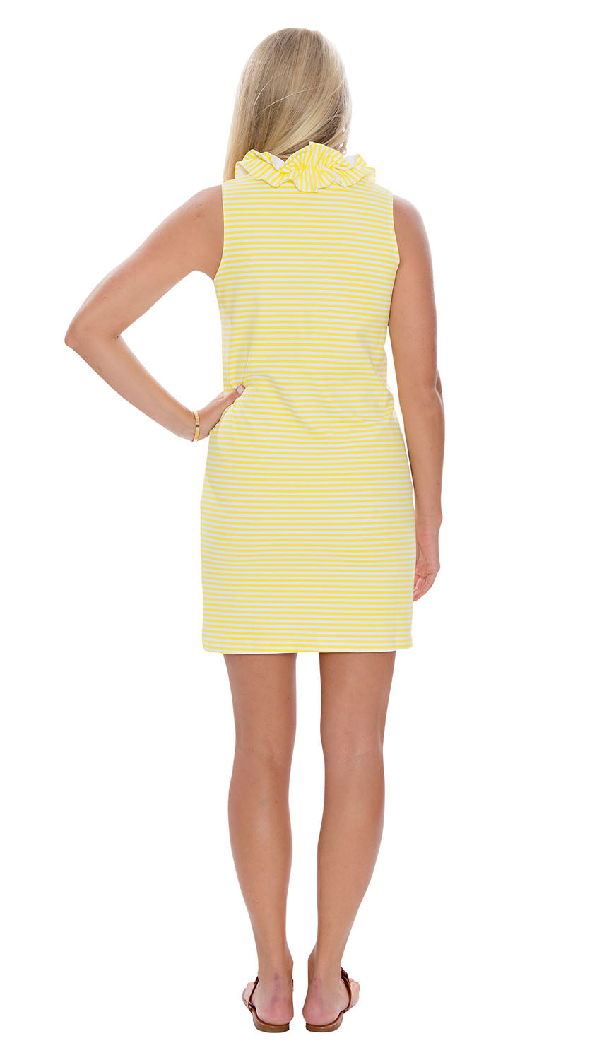 Skipper Dress - Yellow/White Stripes