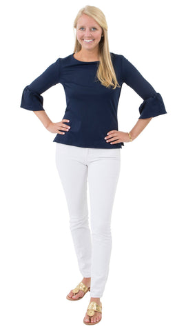 Haley Top - Solid Navy