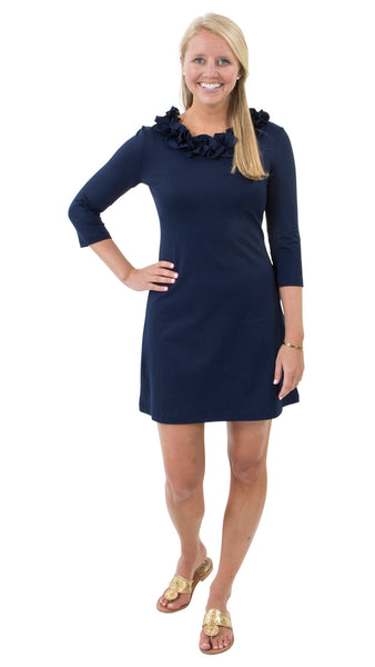 Cricket Dress- Solid Navy
