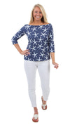 Islander Top - Stick Starfish Navy/White