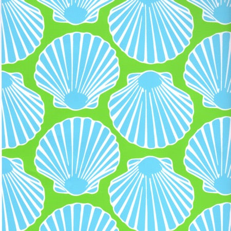 Yacht Club Shift - Scallop Shell Blue/Lime - Final Sale