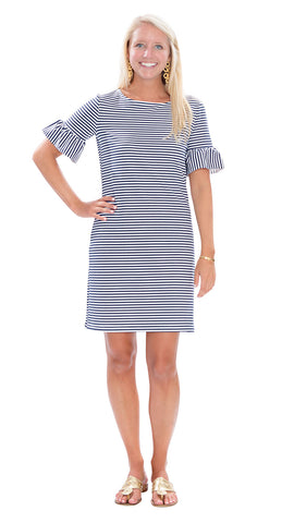 Dockside Dress - Navy/White Stripe
