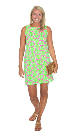Yacht Club Shift - Scallop Shell Pink/Lime-Final Sale