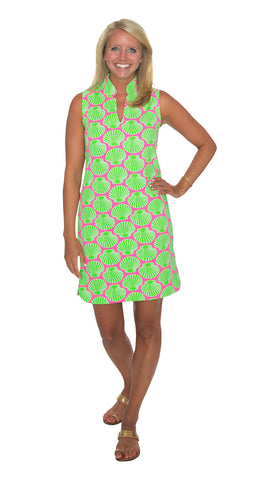Seaport Shift - Scallop Shell Pink/Lime-Final Sale