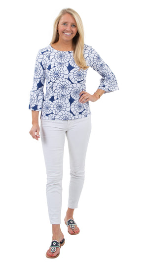 Haley Top - Navy/White Nautilus