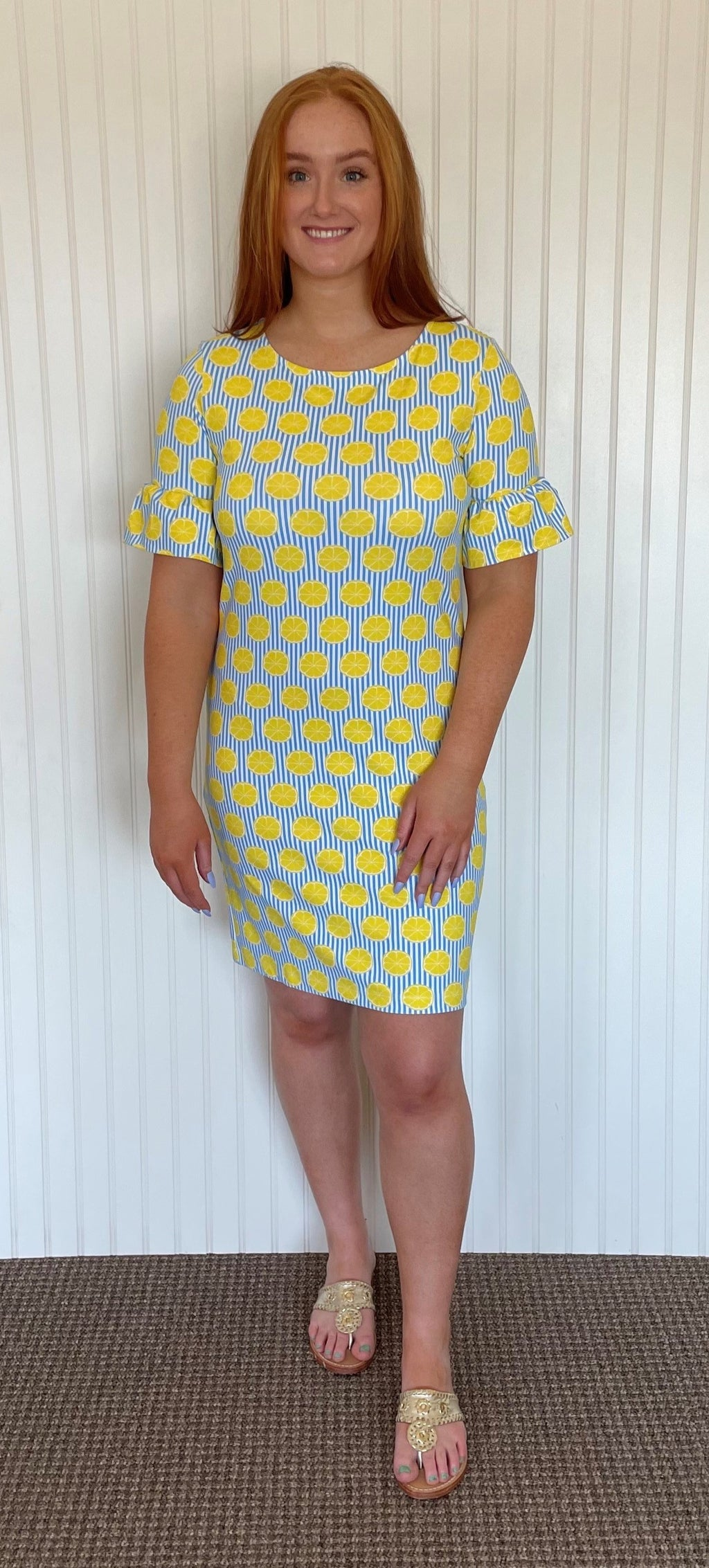 Dockside Dress-Summer Citrus-SAMPLE FINAL SALE