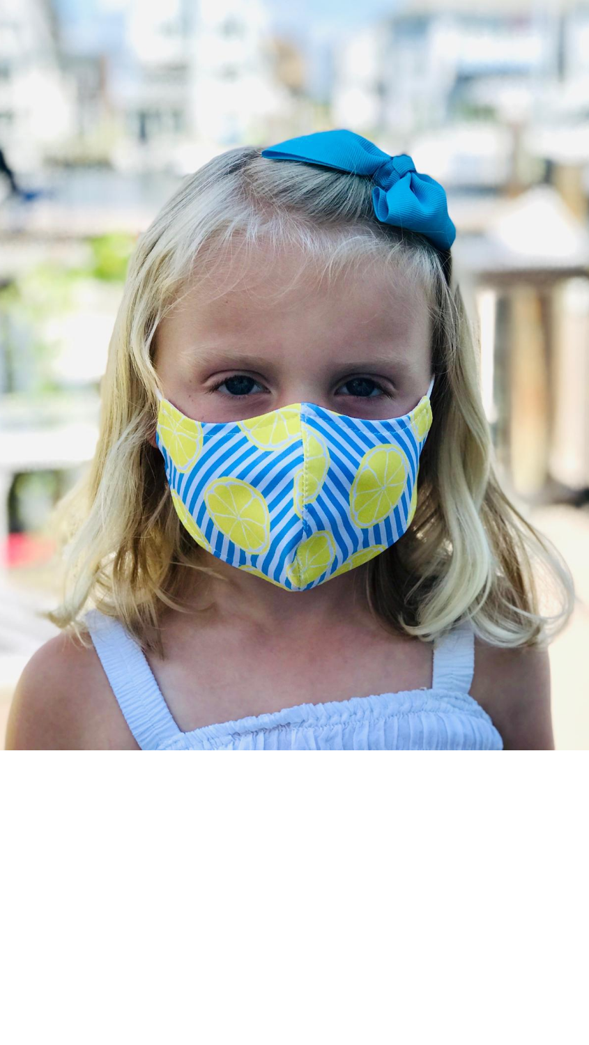 Kids Face Mask - Summer Citrus - FINAL SALE