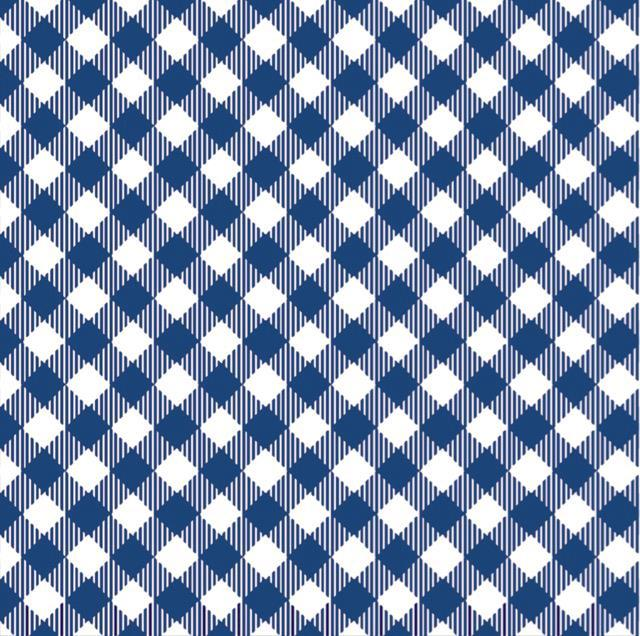 Face Mask - Navy/White Gingham- FINAL SALE