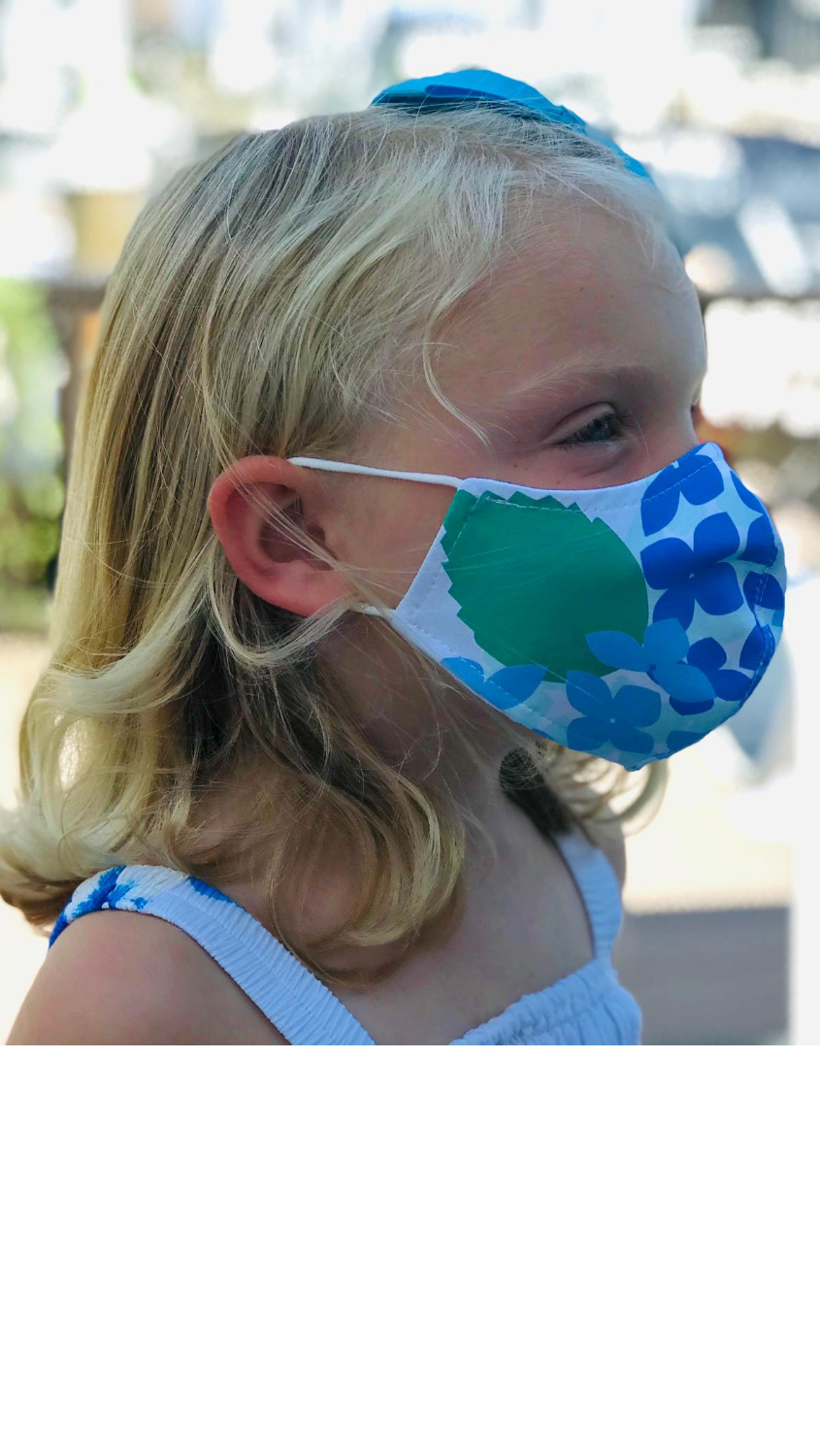 Kids Face Mask - Hydrangea - FINAL SALE