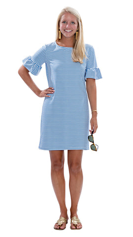 Dockside Dress - Azure/White Stripe