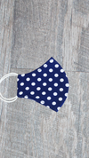 Kids Face Mask - Tiny Dot White/Dazzling Blue - FINAL SALE