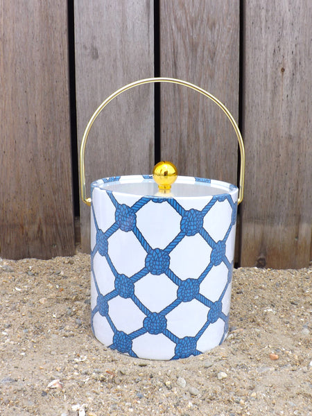Ice Bucket - Knotted Rope Ball Azure/Navy/White