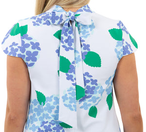 Molly Bow Back Dress - Hydrangea