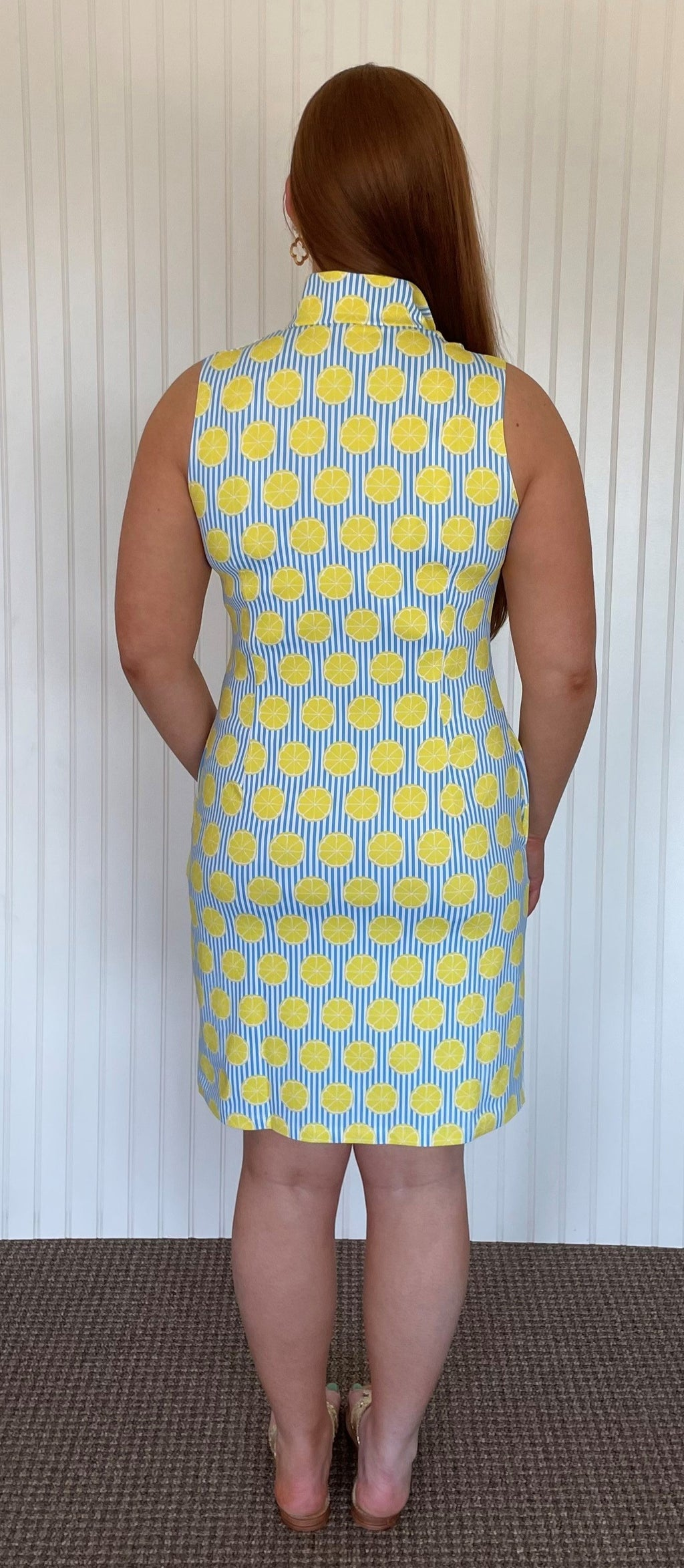 Britt Dress Sleeveless-Summer Citrus-SAMPLE FINAL SALE