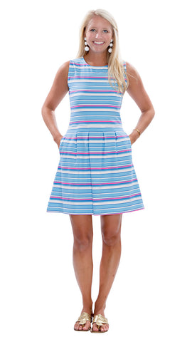 Boardwalk Dress - Resort Stripes