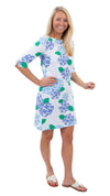 Yacht Club Shift Dress 3/4 - Hydrangea