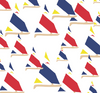Crew Tee - Sunfish Sailboats Red/Yellow/Navy SAMPLE - FINAL SALE