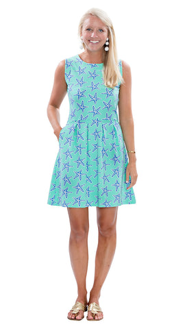 Boardwalk Dress - Sea Star Blue/Green