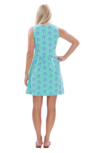 Boardwalk Dress - Sea Star Blue/Green SAMPLE - FINAL SALE