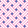 Seaport Shift - Blue/Pink Basket Weave
