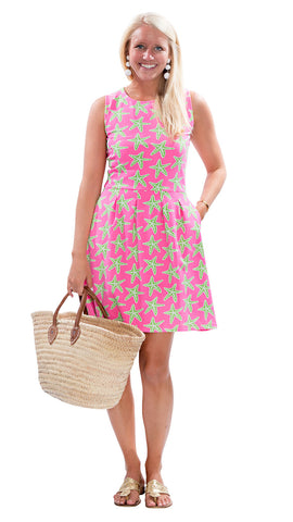 Boardwalk Dress - Sea Star Pink/Green