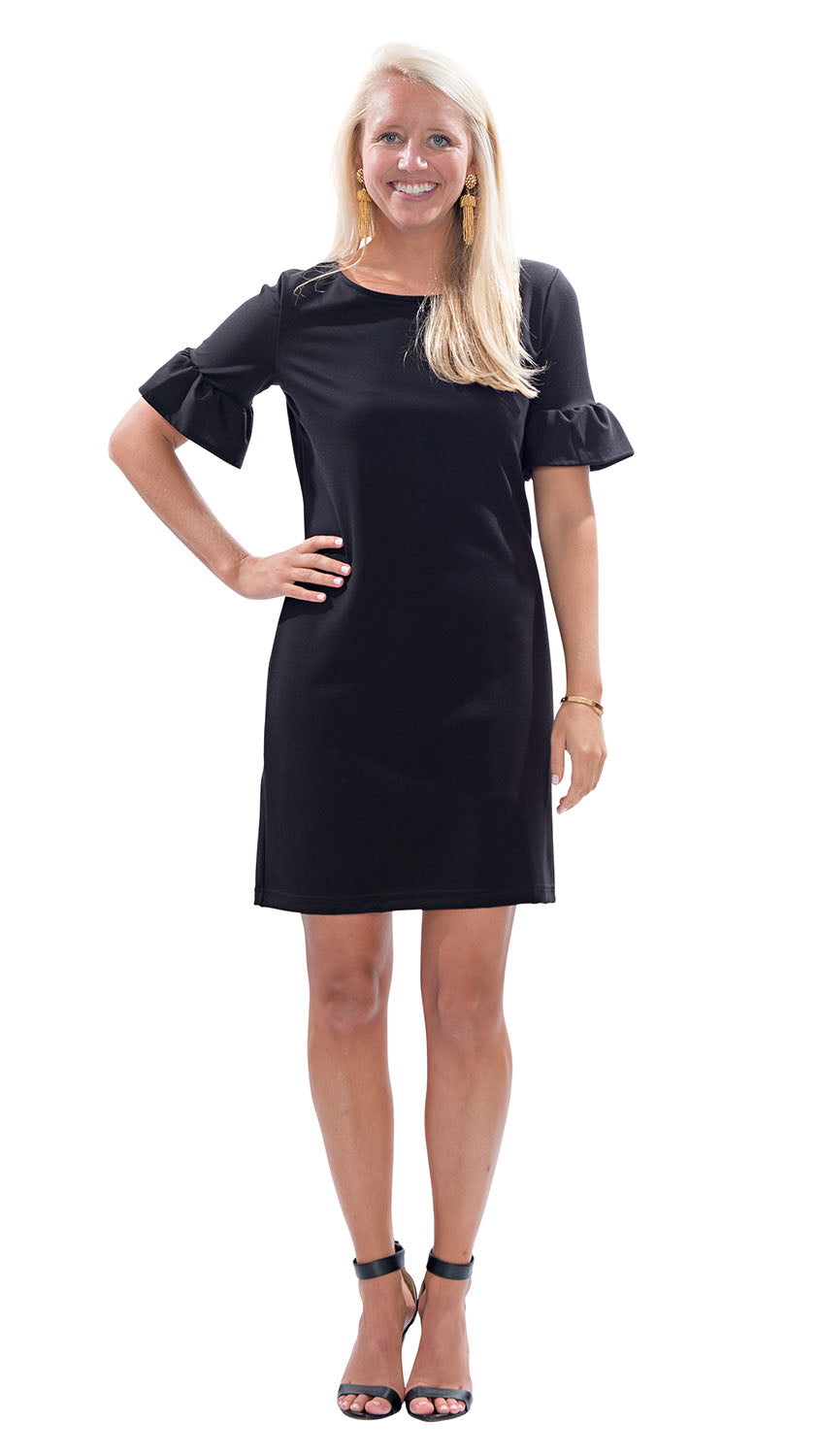 Dockside Dress - Black PONTE KNIT