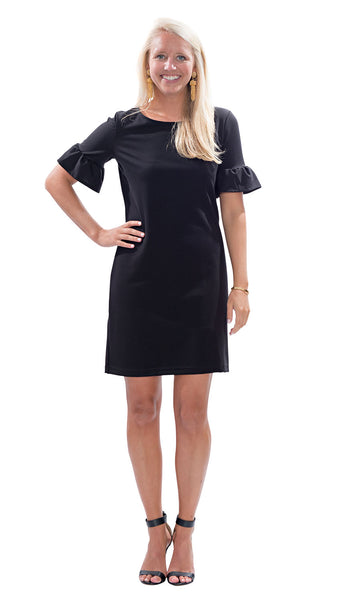 Dockside Dress - Solid Black