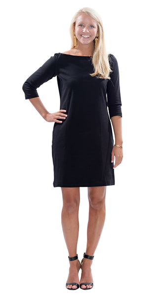 Islander Dress - Black PONTE KNIT