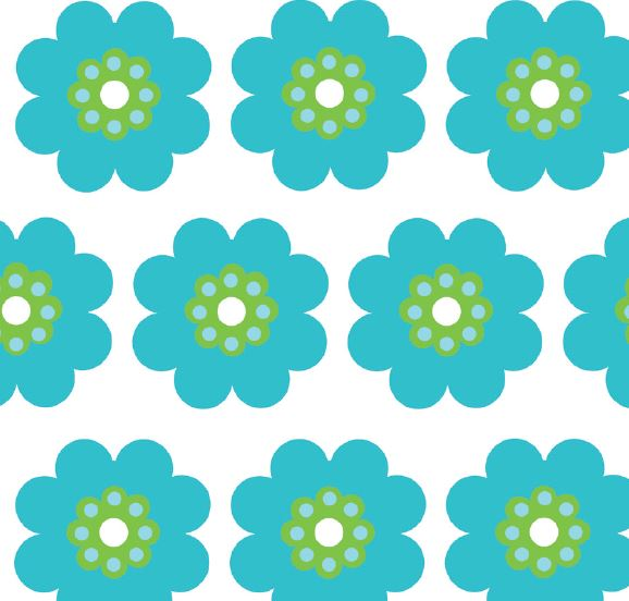 Face Mask - Pocket Full of Daisies Blue/Green - FINAL SALE