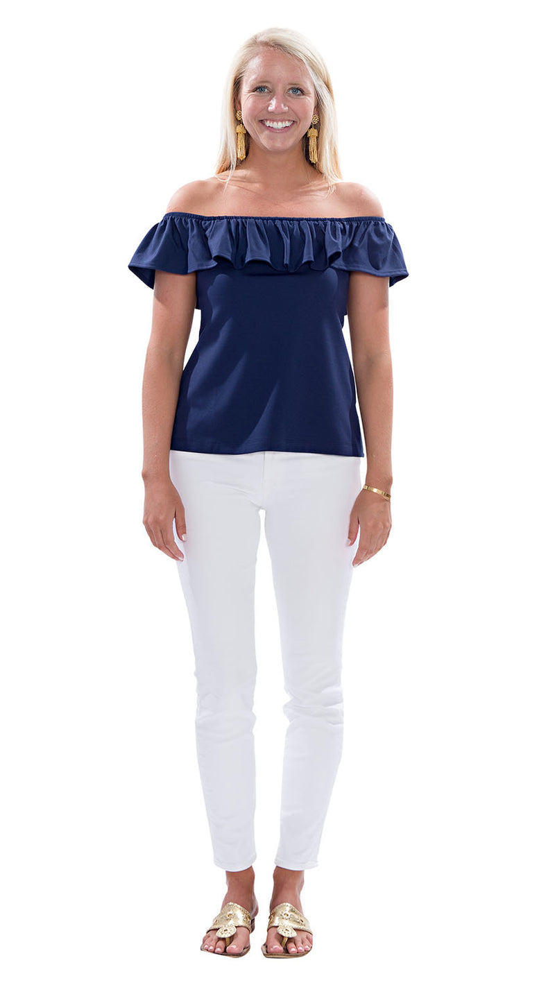 Shoreline Top - Solid Navy