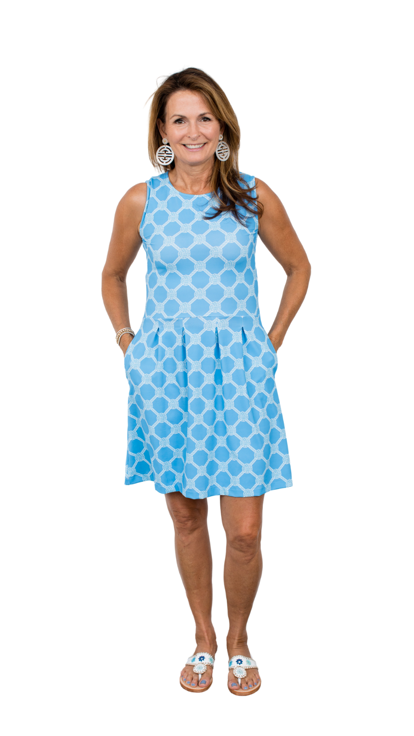 Boardwalk Dress - Summer Knot Alaskan Blue