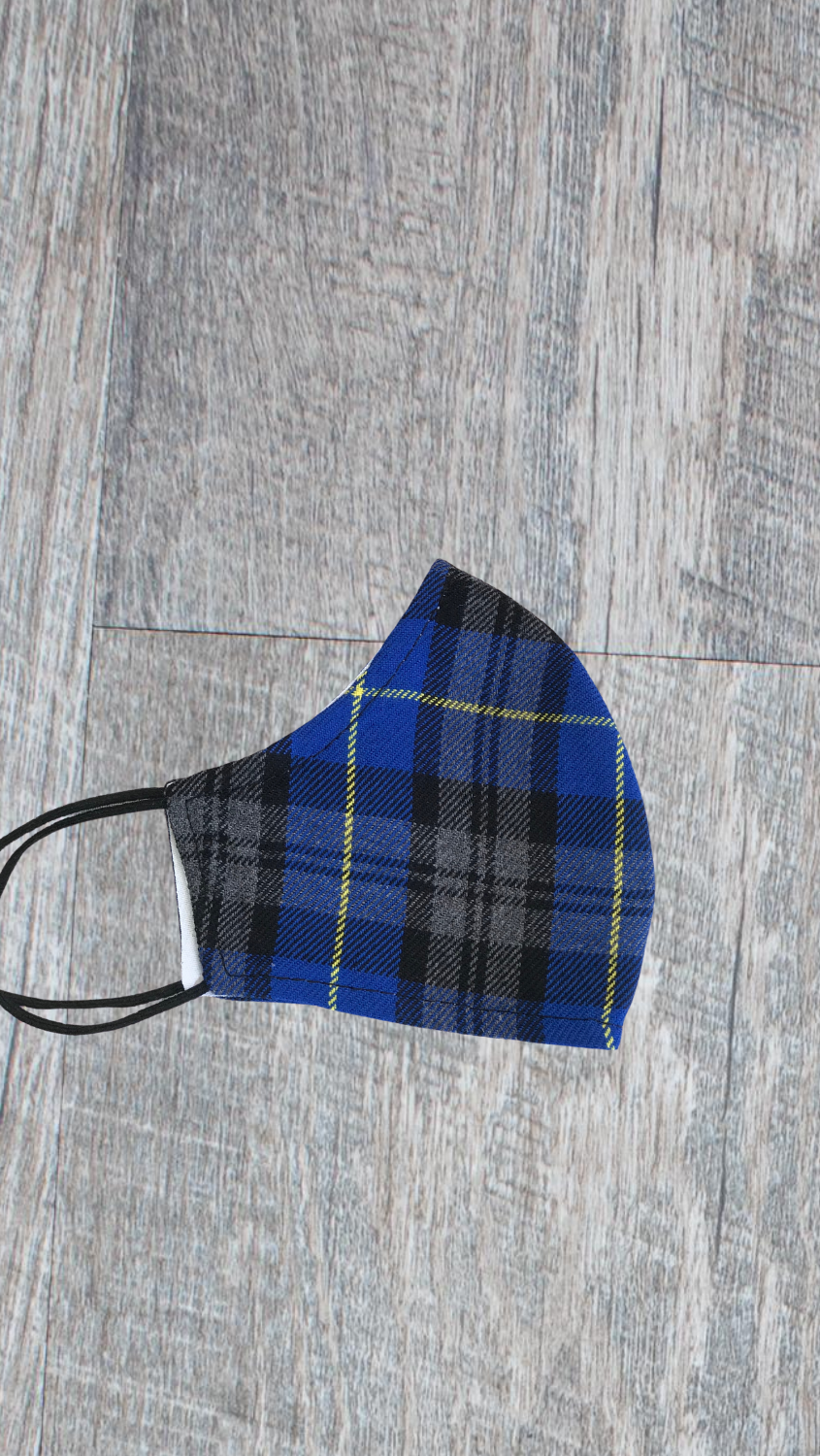 Kids Face Mask - Royal Plaid - FINAL SALE