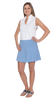Skort-Azure Blue/White Fish Net