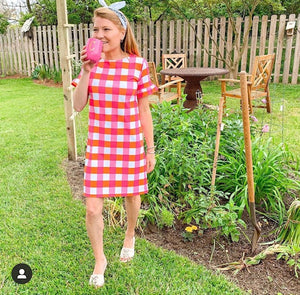 Coco Dress - Pink/Orange Chatham Check - FINAL SALE