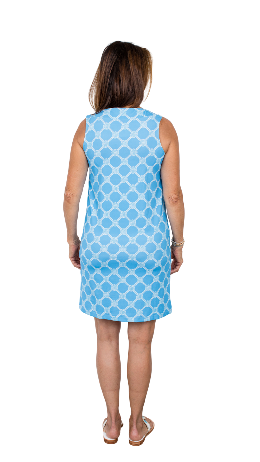 Yacht Club Shift Dress - Summer Knot Alaskan Blue