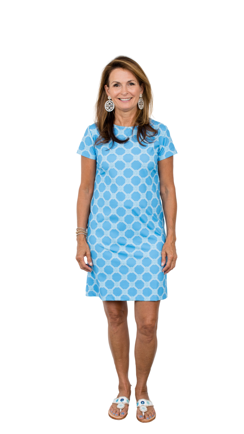 Marina Dress - Summer Knot Alaskan Blue