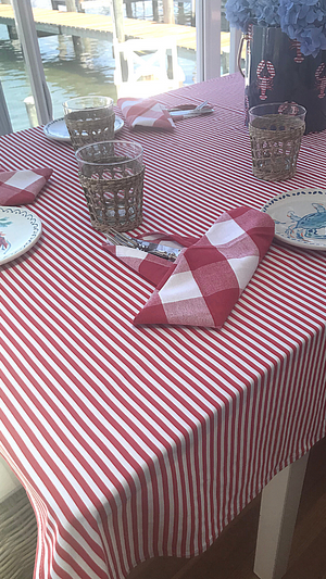 Tablecloth - Red/White Stripe