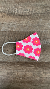 Face Mask - Pocket Full of Daisies Coral/Pink- FINAL SALE