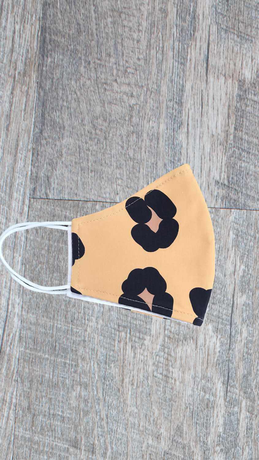 Face Mask -Tan/Brown Cheetah - FINAL SALE