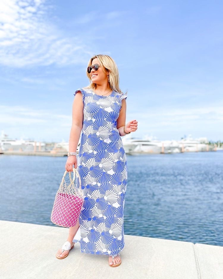 Jojo Maxi Dress - Scattered Scallops- FINAL SALE