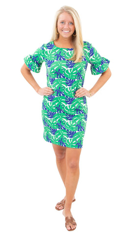 Dockside Dress - Palm Dance Green/Navy