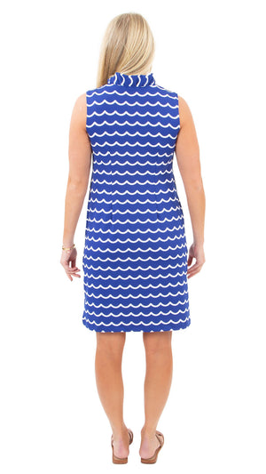 Bridget Dress - Soft Wave White/True Blue - FINAL SALE