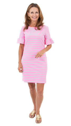 Dockside Dress - Pink/White Stripe