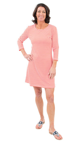Grace Dress - Red/White Stripe SAMPLE - FINAL SALE