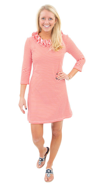 Cricket Dress - Red/White Stripe SAMPLE - FINAL SALE