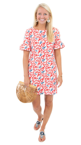 Dockside Dress - Lobsters-- FINAL SALE