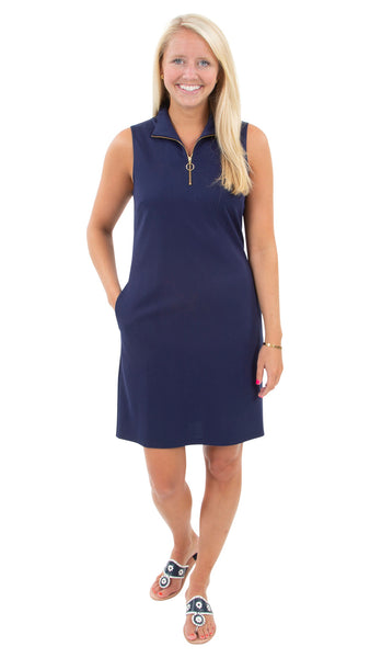 Britt Dress - Solid Navy