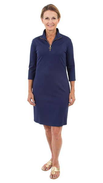 Britt Dress 3/4 Sleeve - Solid Navy