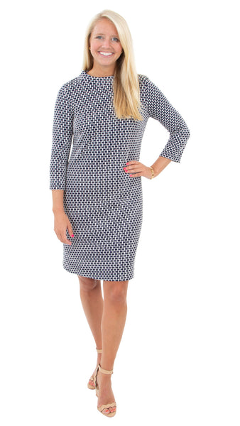 Jackie Dress - Hourglass Navy/white