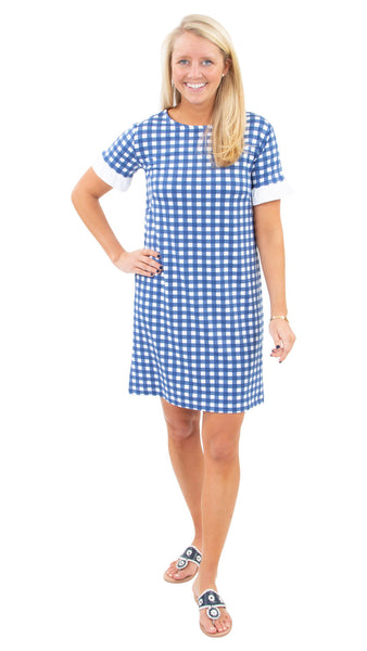 Coco Dress - Picnic Check Navy/White - FINAL SALE